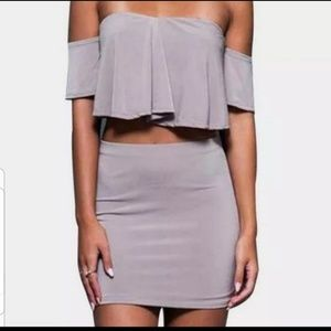 6/$30 two piece skirt and top